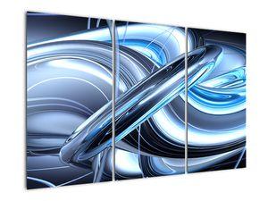 Tablou cu abstracție albastră (V020061V120803PCS)
