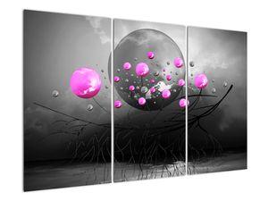 Tablou cu bile roz  (V020105V120803PCS)