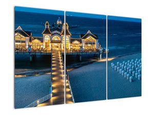 Tablou - hotel pe plajă (V020289V120803PCS)