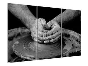 Černobílý obraz - výroba keramiky (V020349V120803PCS)