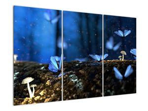 Obraz modrých motýlů (V020434V120803PCS)