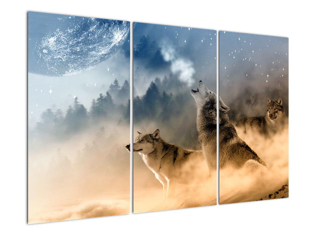 Slika - vukovi zavijaju na mjesec (V020509V120803PCS)