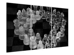 Obraz - černobílé šachy (V020598V120803PCS)