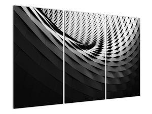 Abstraktní obraz - černobílá spirála (V020667V120803PCS)