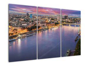 Obraz nočného mesta Bratislavy s riekou (V020706V120803PCS)