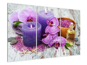 Obraz orchideí a svíček (V020894V120803PCS)