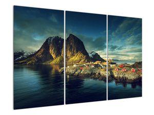 Obraz rybářské vesnice v Norsku (V021280V120803PCS)