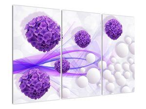 Obraz - Koule, kuličky, květy, ... (V021304V120803PCS)