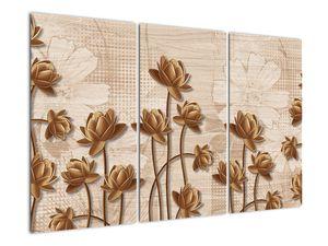 Obraz abtrakce květin - hnědá (V021309V120803PCS)