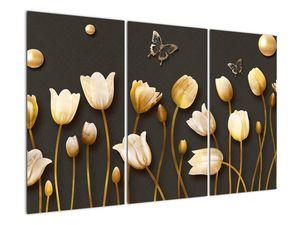 Obraz - Tulipány - abstraktné (V021347V120803PCS)