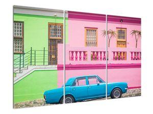Obraz auta - barevné domy (V021582V120803PCS)