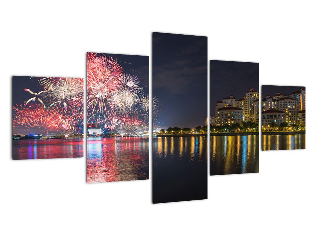 Tablou cu artificii in Singapur (V020035V12570)