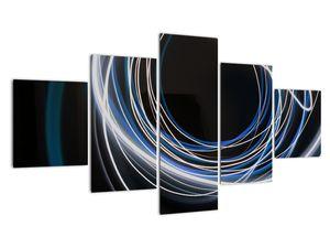 Tablou cu linii albastre (V020053V12570)