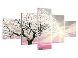 Růžový obraz stromu (V020058V12570)