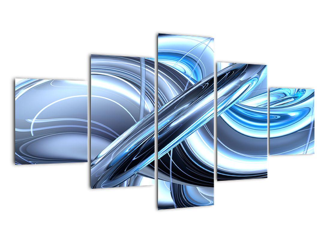 Tablou cu abstracție albastră (V020061V12570)