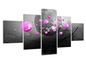 Tablou cu bile roz  (V020105V12570)
