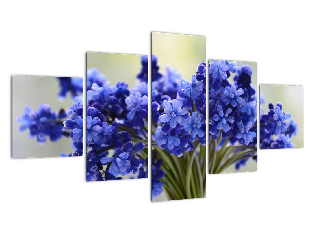 Obraz kytice modrých květů (V020175V12570)