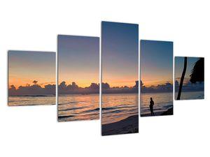 Tablou femeii pe plajă (V020204V12570)