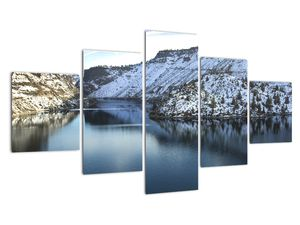 Tablou - peisaj de iarnă cu lac (V020216V12570)
