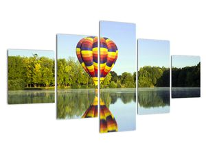 Tablou cu balon cu aer cald pe un lac (V020217V12570)