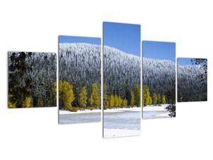 Tablou - munții înzăpeziți iarna (V020219V12570)