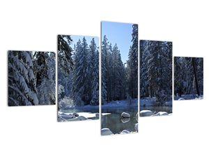 Tablou pădurii înzăpezite (V020221V12570)