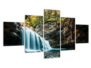 Tablou cu cascada de pădure (V020223V12570)