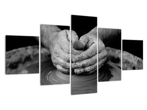Černobílý obraz - výroba keramiky (V020349V12570)
