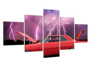 Slika crvenog automobila (V020409V12570)