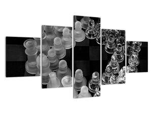 Obraz - černobílé šachy (V020598V12570)