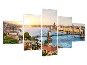 Obraz města Budapešť s řekou (V020712V12570)