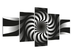 Abstraktní obraz černobílé spirály (V020831V12570)