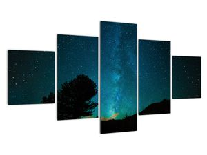 Obraz nočnej oblohy s hviezdami (V021100V12570)