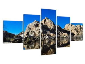 Obraz zrkadlenie skál (V021327V12570)