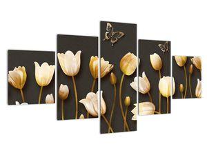 Obraz - Tulipány - abstraktné (V021347V12570)