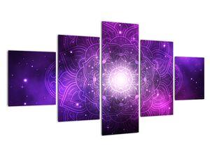 Obraz fialové abstrakce (V022148V12570)