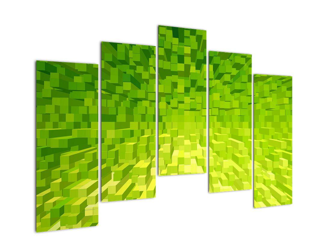 Obraz žlutozelených kostiček (V020057V12590)