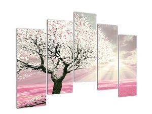 Růžový obraz stromu (V020058V12590)