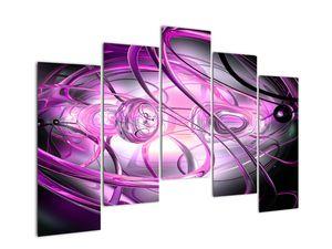 Obraz krásné fialové abstrakce (V020060V12590)
