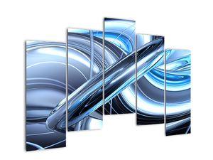 Tablou cu abstracție albastră (V020061V12590)