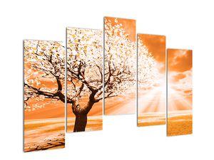 Oranžový obraz stromu (V020095V12590)
