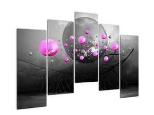 Tablou cu bile roz  (V020105V12590)