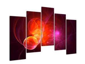 Moderní obraz růžové abstrakce (V020129V12590)