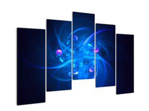 Moderní obraz modré abstrakce (V020137V12590)