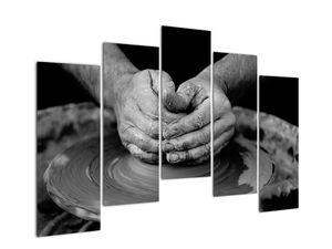 Černobílý obraz - výroba keramiky (V020349V12590)