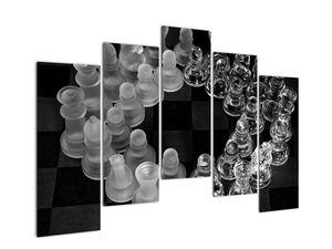 Obraz - černobílé šachy (V020598V12590)