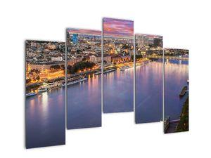 Obraz nočného mesta Bratislavy s riekou (V020706V12590)