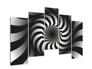 Abstraktní obraz černobílé spirály (V020831V12590)
