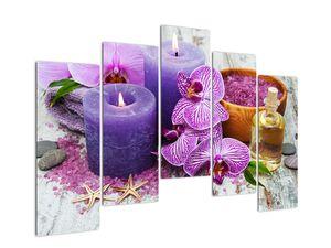 Obraz orchideí a svíček (V020894V12590)