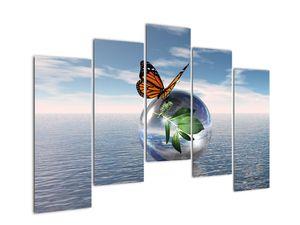 Obraz motýla na skleněné kouli (V021198V12590)